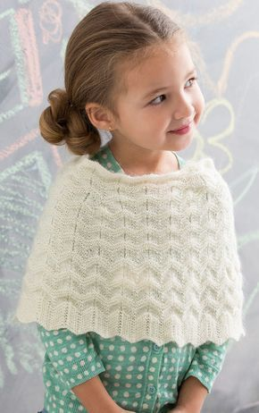 Free Knitting Pattern for Child\'s Chevron Poncho - This Girl\'s ...