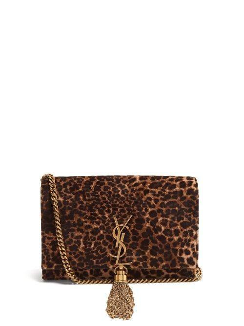 cd22b8a5a613 Kate Small Leopard Print Velvet Cross Body Bag - Womens - Leopard ...
