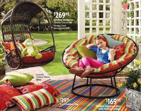 Swingasan chair from Pier1- cupholders and a swing - what more can you ask for..