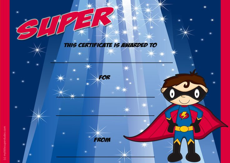 super certificate  a blank kids certificate template  can