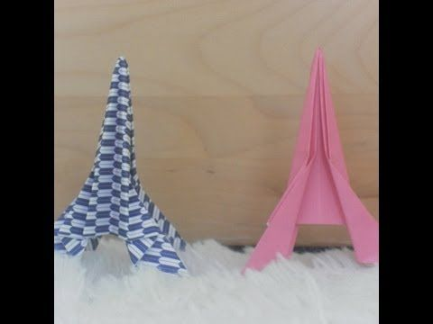 How to Fold an Origami Eiffel Tower (easy) - YouTube