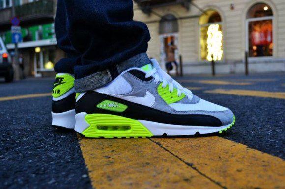 air max grey,black &green