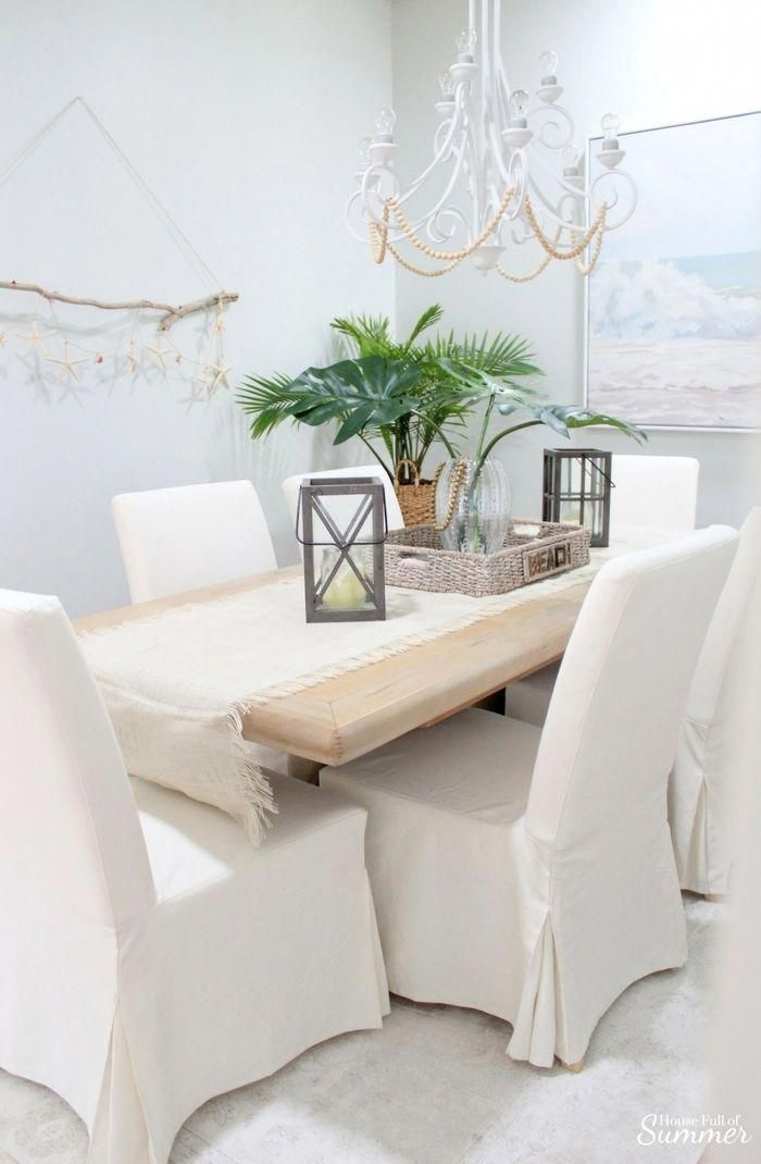 Why I Love My White Slipcovered Dining Chairs House Full Of Summer These Ikea Are The Best Bang For Your Buck And Super Comfortable