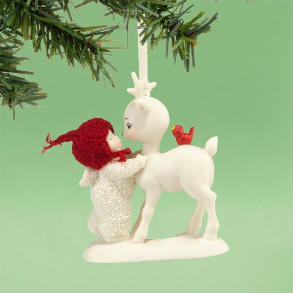 She Kissed a Reindeer Ornament