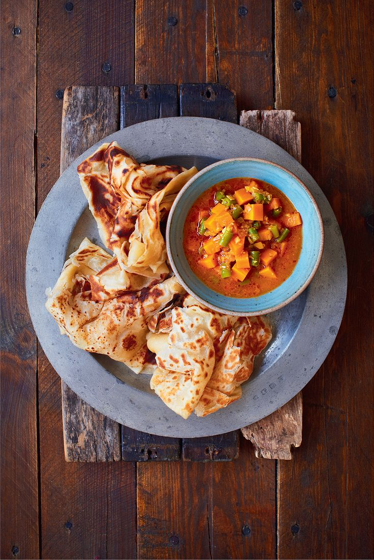 Malaysian Flatbread (Roti Canai) - The Happy Foodie
