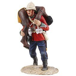 """BR20164 -- """"Clearing The Yard"""" Set No.2 - British 24th Foot Carrying Dead Zulu"""