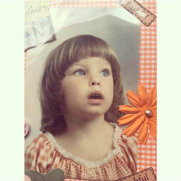 Belinda enterneció Instagram con una foto de su infancia.. que linda  !