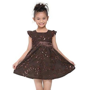 jurken kinderen jurken meisje met korte mouwen zomer jurk met riem kinderen jurken – EUR € 10.86