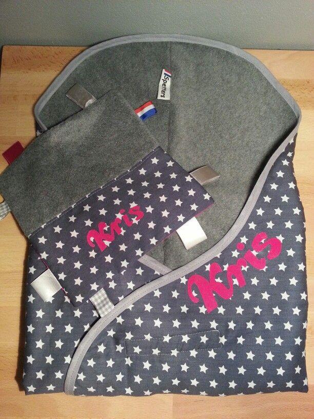 Kraamcadeau knuffeldoekje en babywrapper/wikkeldoek