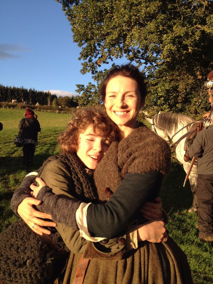 Romann Berrux shares this pic of him with Caitriona Balfe.