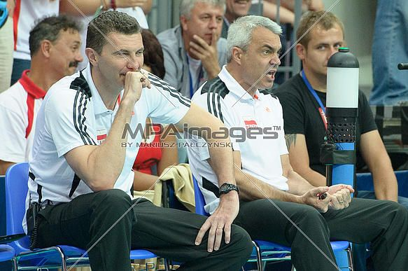 Andrea Gardini and Andrea Anastasi of Poland Volleyball Team | © Mariusz Pałczyński / MPAimages.com