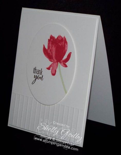 Making beautiful handmade cards is easy with the new Stampin' Up! Lotus Blossom Stamp Set!  Watch to see how I made my simple Lotus Blossom ard that is simply gorgeous for my January thank you card...