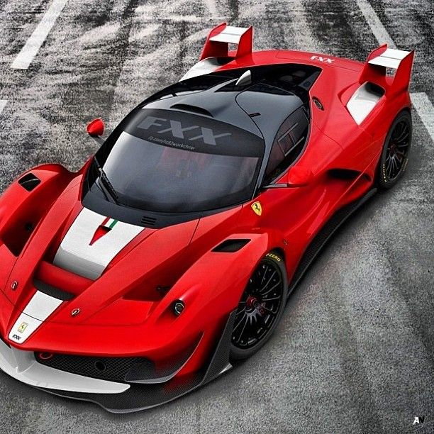 Rendering of the next generation of Ferrari FXX