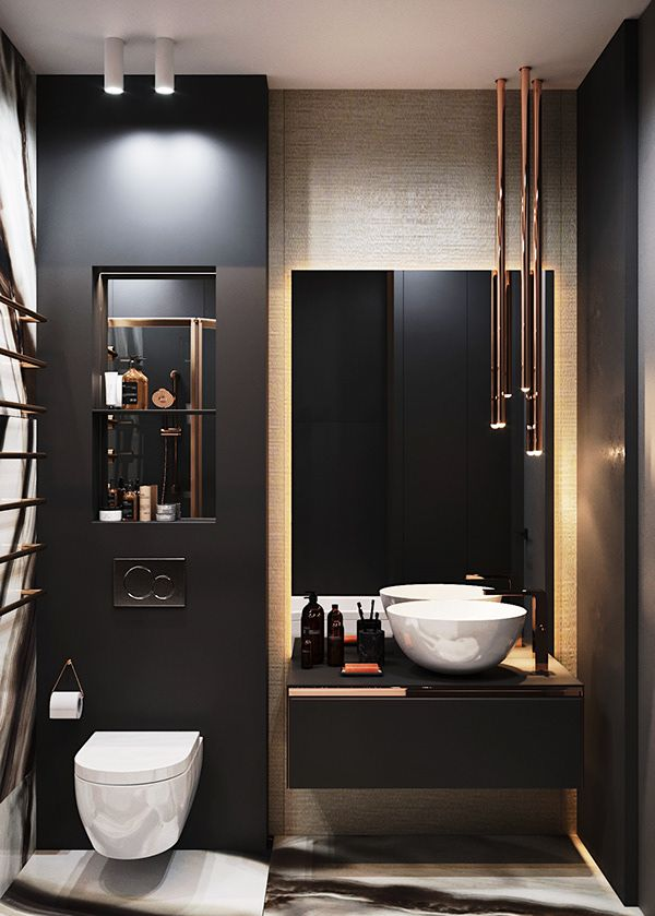Apartment In Moscow Dezign Ark Beta Modern Bathroom Design Bathroom Design Trends Modern Bathroom