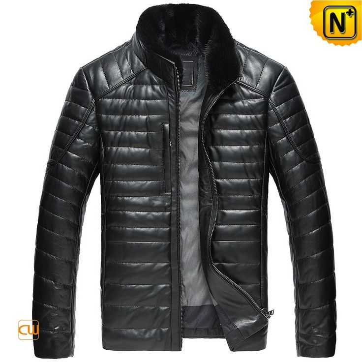 www.cwmalls.com PayPal Available (Price: $568.89) Email:sales@cwmalls.com; Quilted Leather Down Winter Jacket for Men CW860035 Classics quilted leather down jacket for men crafted from quality Napa finish leather coat and warm down padded. Selecting cushiony removable mink fur collar leather jacket to protect you from cold and winter.
