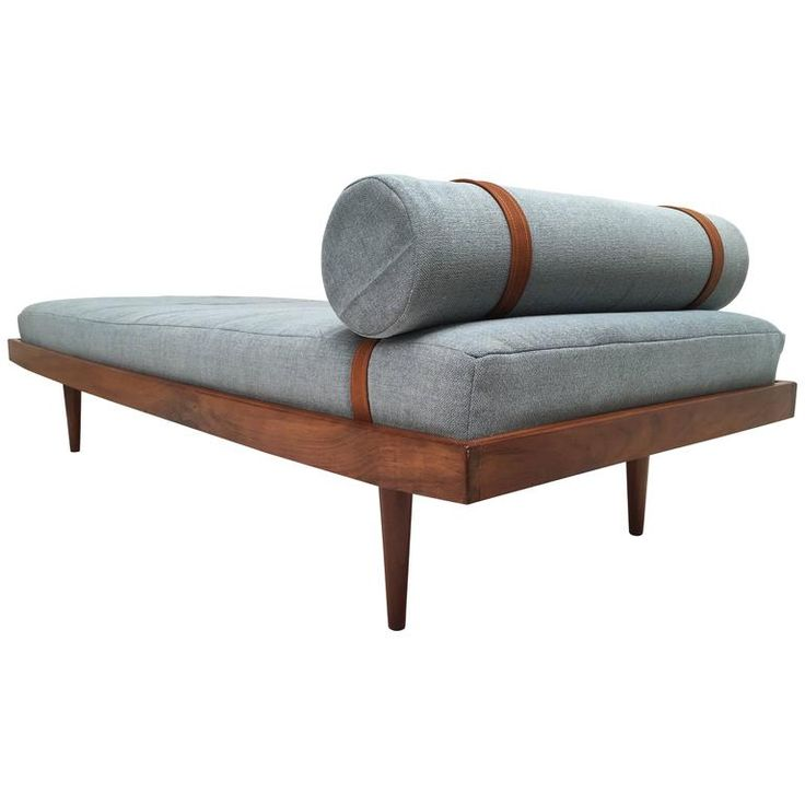1960s teak daybed with new de ploeg steppe wool upholstery - Modern Daybed