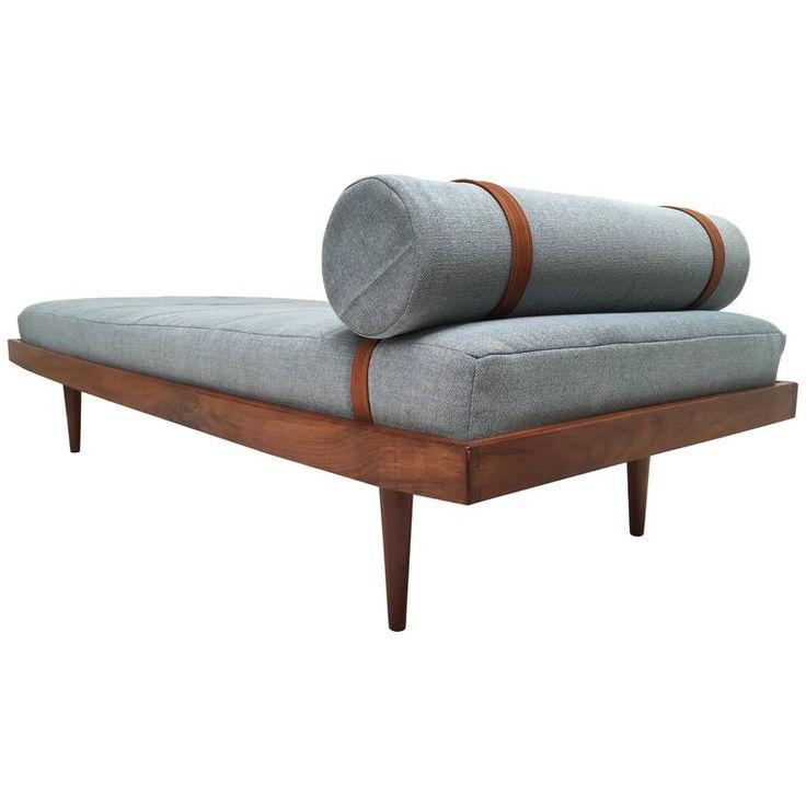 1960s Teak Scandinavian Daybed with New De Ploeg Steppe Wool Upholstery 1