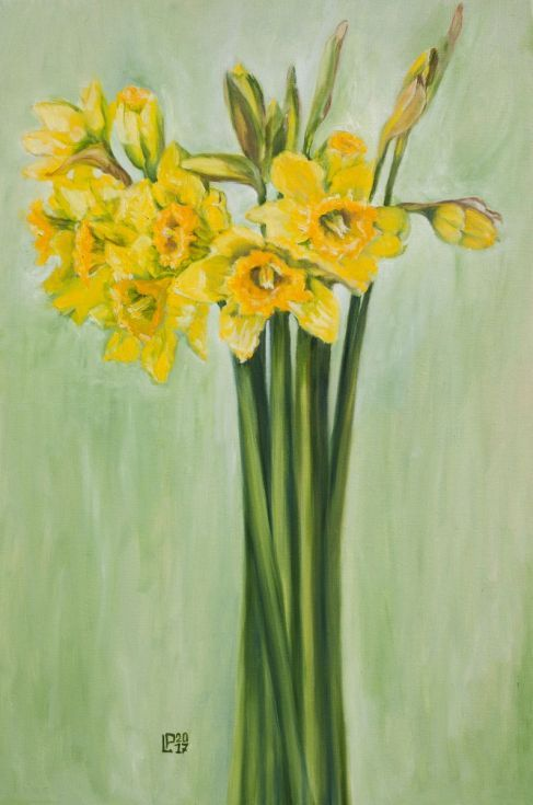Buy Daffodils, Oil painting by Liudmila Pisliakova on Artfinder. Discover thousands of other original paintings, prints, sculptures and photography from independent artists.