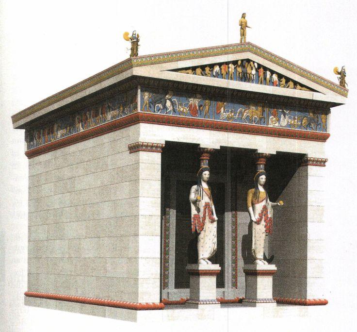 Tesoro de los sifnios en Delfos | Arte griego, época arcaica tardía (s. VI-V a.C.)