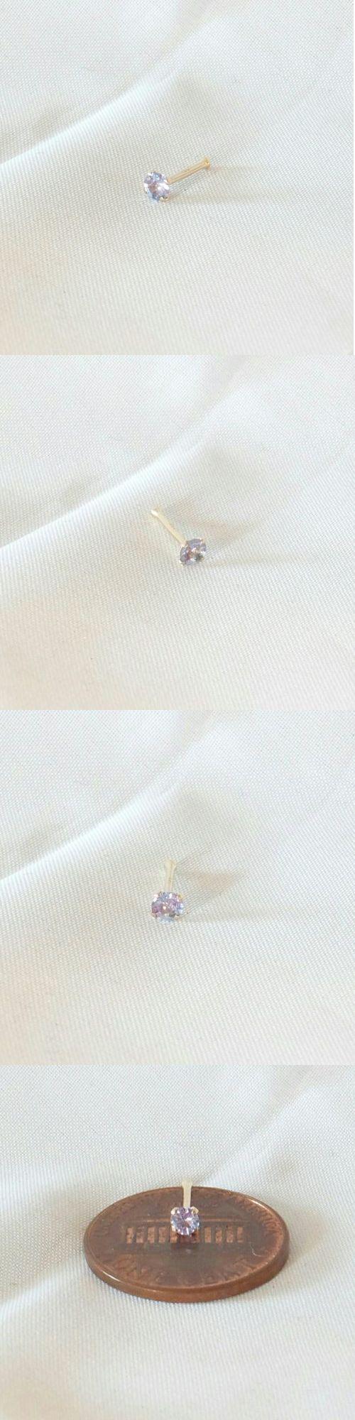 Body Piercing Jewelry 32050: 2.7Mm Genuine Tanzanite 14K Yellow Gold 20G Nose Bone Ring Pin Stud -> BUY IT NOW ONLY: $40 on eBay!