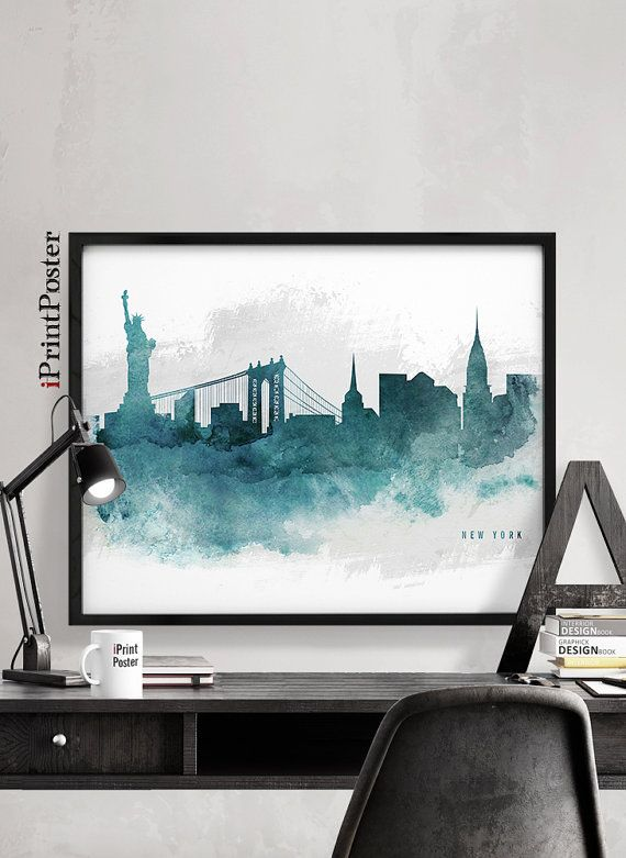 New York city art New York city print New York city poster