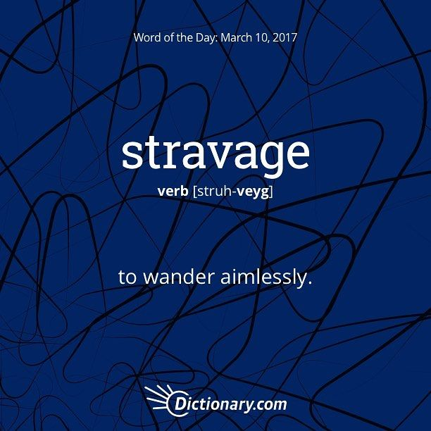 """166 Likes, 2 Comments - Dictionary.com (@dictionarycom) on Instagram: """"Today's Word of the Day is stravage. #wordoftheday #language #vocabulary"""""""