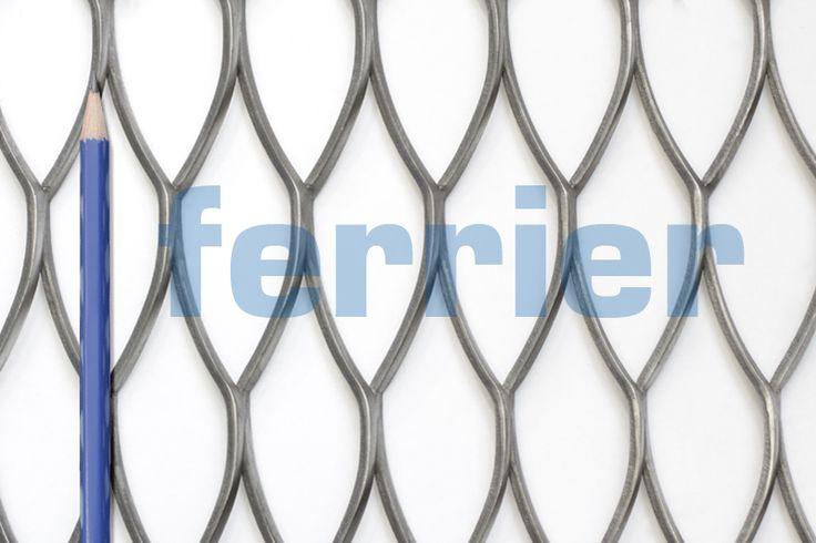 Ferrier Design expanded metal, ferrdxm0060 pattern, mild steel (unfinished) material.