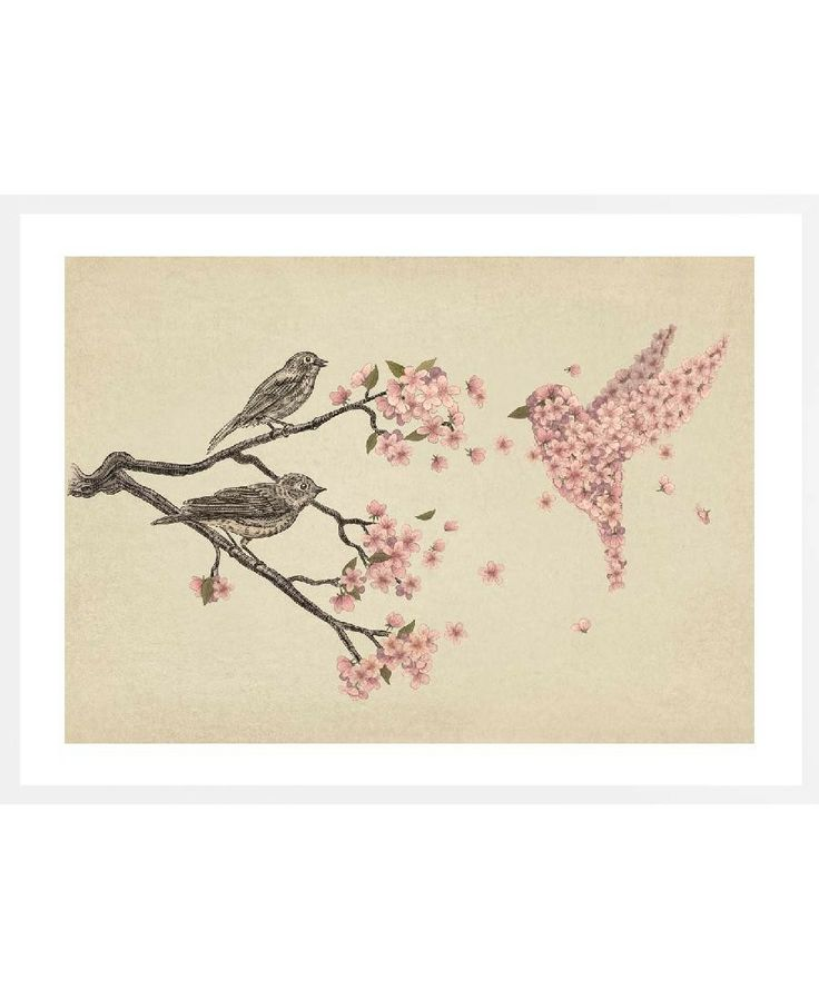 Blossom Bird VON Terry Fan now on JUNIQE!