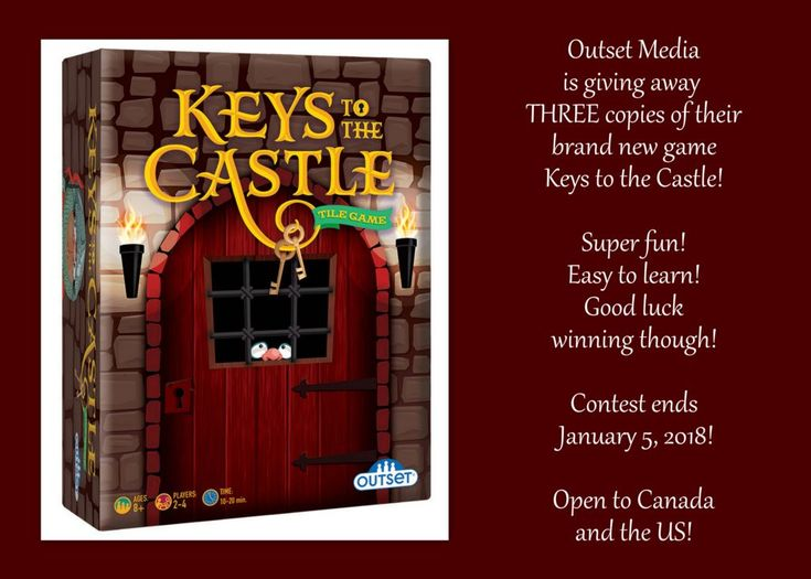 Outset Media – Keys to the Castle! ~Giveaway x 3