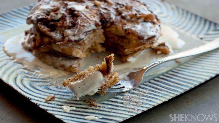 Zimtgebäck-Pfannkuchen mit Frischkäse-Nieselrezept   – A spoon full of sugar….