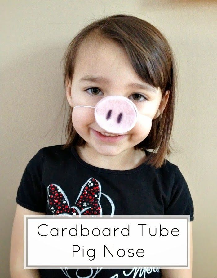 Tutus and Tea Parties: Cardboard Toilet Tube Craft | DIY Pig Nose. Good idea for A peppa pig costume or birthday party favor.