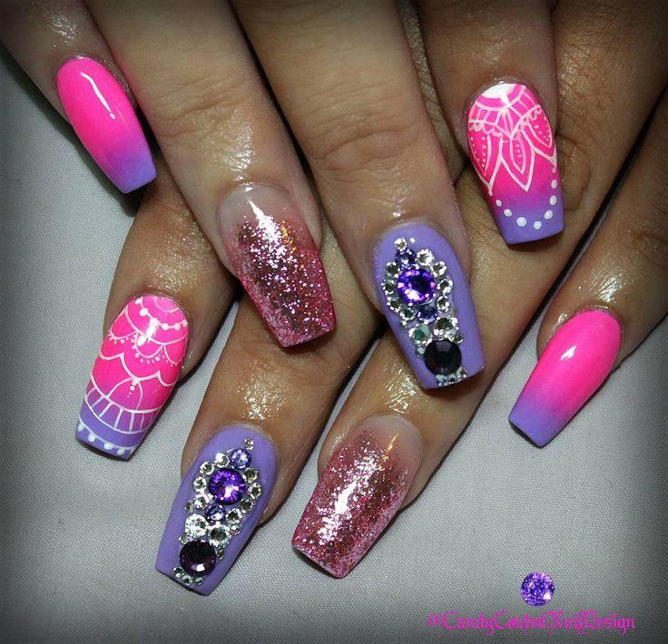 Ombrè Exotique... Sculpted acrylics with @kingofnail Eternal Beige @gfa_australia CA913 and FW142 @vetro_usa Lollipop leaf and @touchedbycolournailart bling!  #candycoatednaildesign #ombrenails #coffinnails #gfaaustralia #vetrogel #vetroleaf #swarovskicrystals #nailcouture #notd #designernails #nailswag #wakeupandmakeup #ministryofnails #nailstoinspire #instanails #nailprodigy #ignails #nailsofinstagram #instagood #nailpromote #nailpro #hudabeauty #nailsmagazine #thenaillife #swannails…