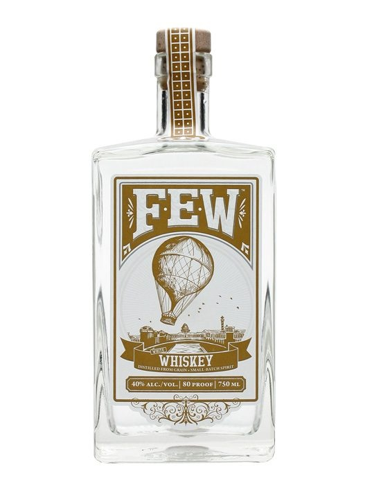 FEW White Whiskey : Buy Online - The Whisky Exchange - A crisp and clean tasting unaged whiskey from Chicago's FEW distillery, bottled before it's hit a barrel and great as a base for cocktails or on its own.
