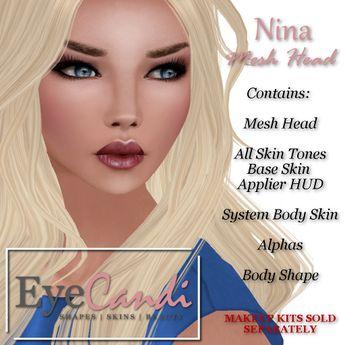 Eye Candi Nina Mesh Head & Base Skin in All Tones PROMO PRICE!
