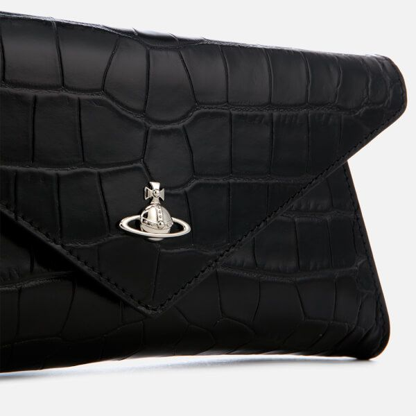 2ce8b5952d Women's envelope clutch bag from Vivienne Westwood with a structured  silhouette. Crafted from smooth leather with a faux croc design, the 'Lisa'  evening bag ...