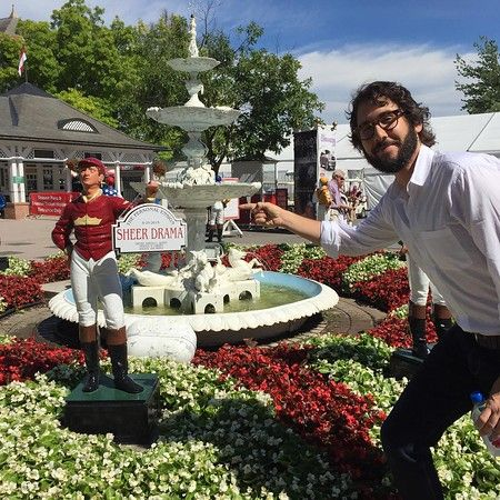 joshgroban  7/24/16   Had an awesome day off watching the races in Saratoga. Funny horse names and day drinking are the REAL winners here…