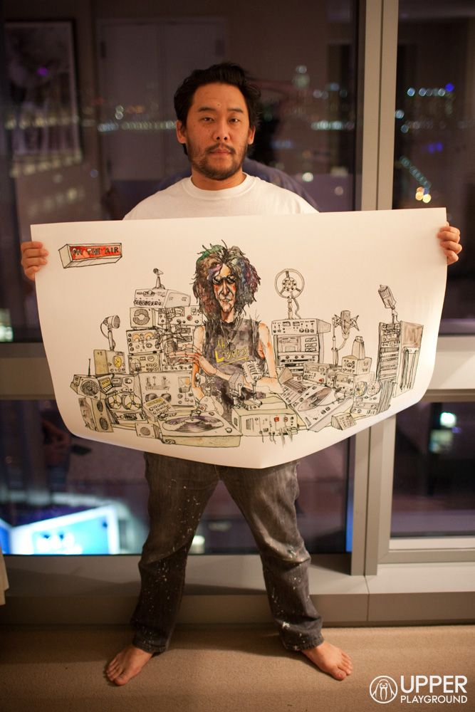 two of the coolest people doing and making things - david choe and howard stern