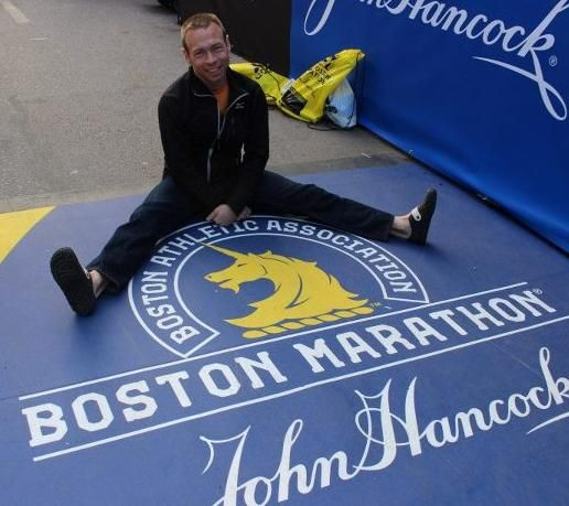 Feeling Great at the Boston Marathon finish line.