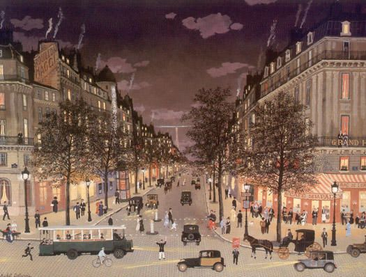 Michel Delacroix French Artist  Les Grands Boulevards