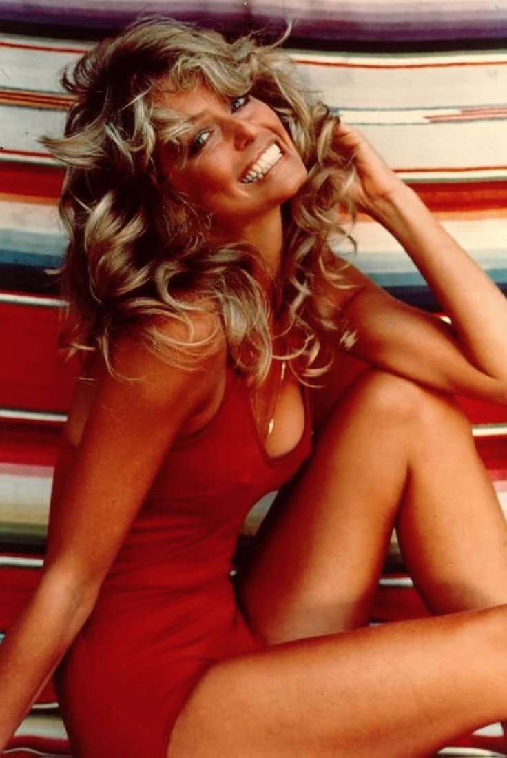That famous red swim suit!   Farrah Fawcett. Texan Woman.
