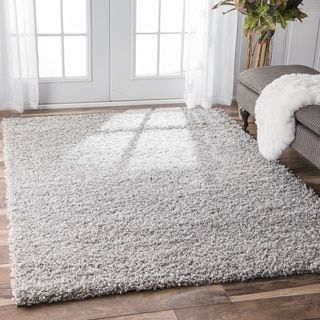 Shop for nuLOOM Alexa My Soft and Plush Solid Silver Shag Rug (8' x 10') and more for everyday discount prices at Overstock.com - Your Online Home Decor Store!