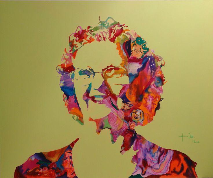 Mom portrait, acrylic on canvas 150x180cm, 2006