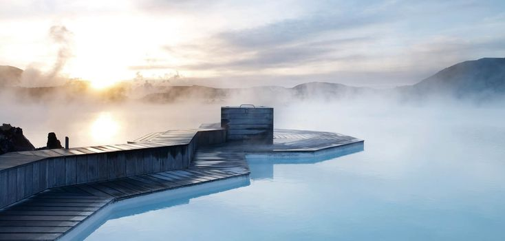 Exemplifying Iceland's dramatic landscape is the volcanic, geothermal, Blue Lagoon spa. GET INTO HOT WATER: VIP BLUE LAGOON GETAWAY FOR TWO  REYKJAVIK, ICELAND