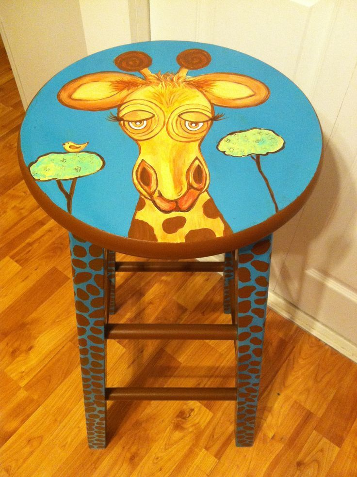 66 Best Painted Stool Images On Pinterest Banquettes