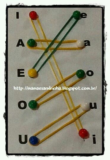 Match uppercase and lowercase letters with pushpins and rubberbands to promote fine-motor development and letter recognition.