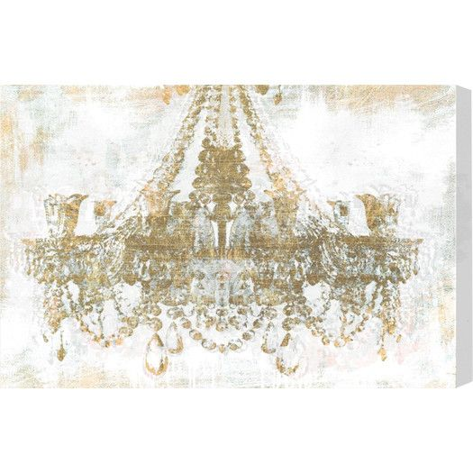 Oliver Gal Gold Diamonds Faded Graphic Art on Canvas | AllModern