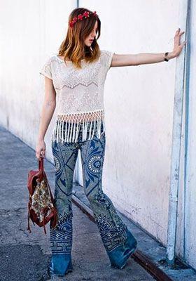брюки в стиле Хиппи