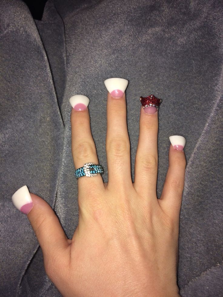 Flare Nails By Sactown Nails And Sactown Nail Spa: Wide Flare Nails-crown Cut-pink And Whites