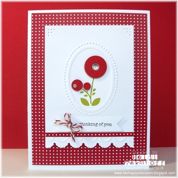 Two Happy Stampers blogCards Ideas, Blog Post, Summer Smooches, Buttons Flower, Red Blossoms, Happy Cards, Happy Stampers, Bright Blossoms, Stampers Blog
