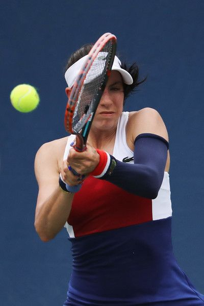 Christina McHale of the United States returns a shot against Daria Kasatkina of Russia during their second round Women's Singles match on Day Four of the 2017 US Open at the USTA Billie Jean King National Tennis Center on August 31, 2017 in the Flushing neighborhood of the Queens borough of New York City.